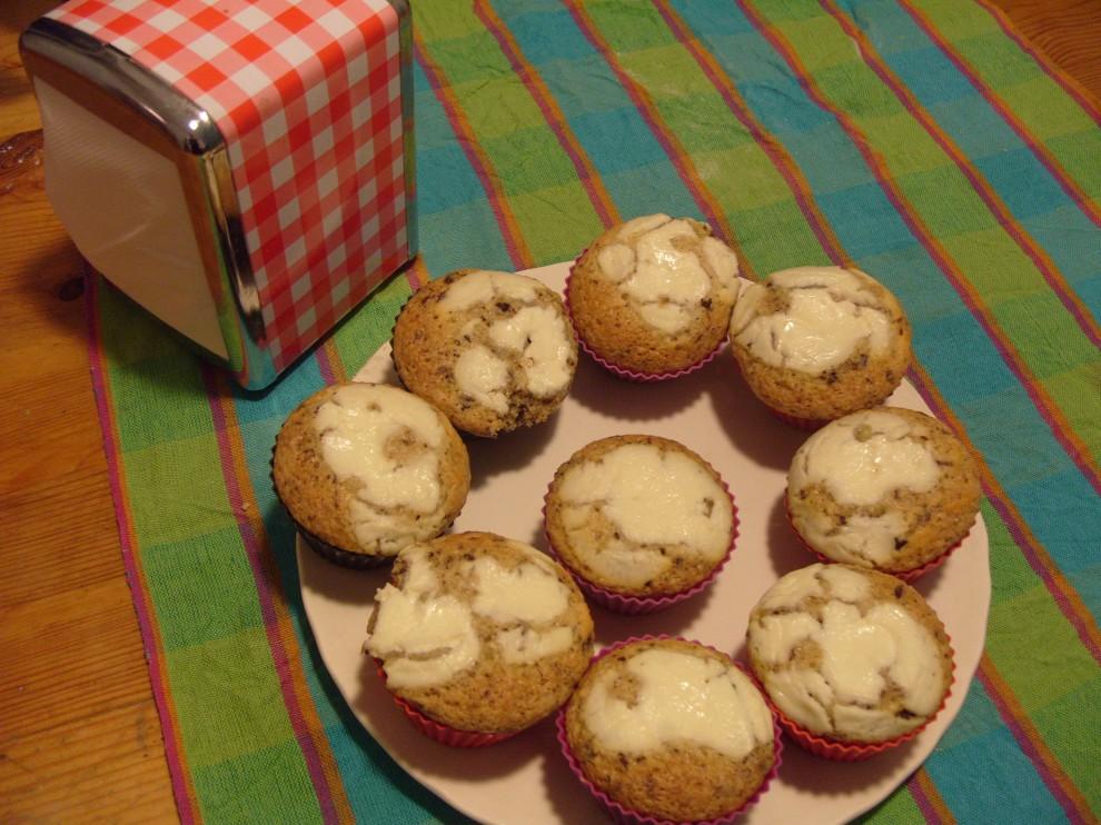 Muffin all'errore con cioccolato e senza cranberries